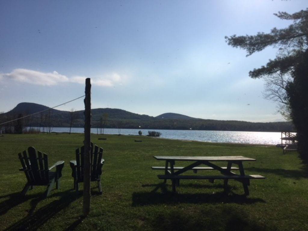 Enjoy our 400 ft private beach at lake willoughby cabin 7 for Lake willoughby cabins