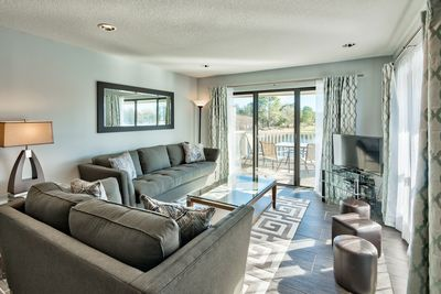 Enjoy outdoor views from living room.