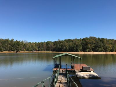 """Photo for """"Moonlight Mist"""" is a chic, charming, secluded lake front home on Lake Hartwell"""
