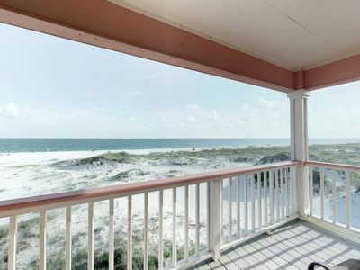 Photo for NEW LISTING! Large beachfront duplex w/balconies, views & shared pools/hot tub