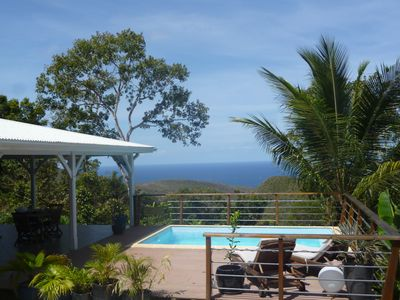 Photo for Spacious villa, open june july august 4 bedrooms, pool, stunning sea view