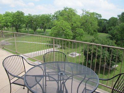 Beautiful, relaxing view from your top floor patio.