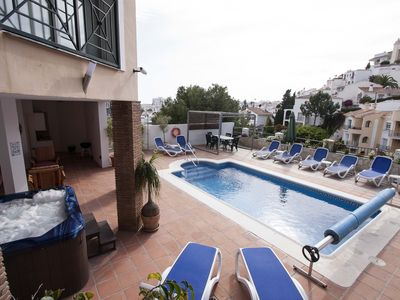 Photo for Stunning 3/5 bed Villa & Apartment With Heated Pool, 5-person Hot Tub & new Gym.