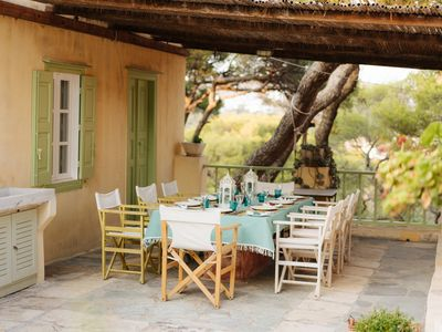 Photo for Wonderful 4 Bedroom Farmhouse Set In Olive Groves And Gardens With Plunge Pool
