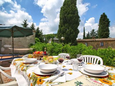 Photo for Terrace apartment in Tuscany