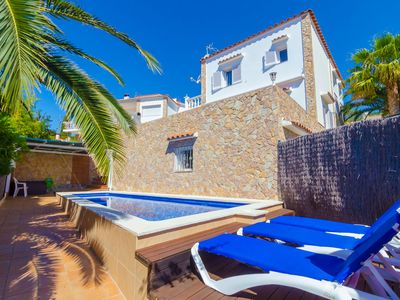 Photo for Club Villamar - Ideally situated, family friendly villa that accommodates 7, with sea views and p...