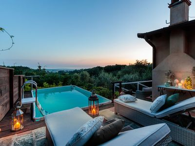 Photo for SEAVIEW ALCOVA, a Romantic Farmhouse with Private Pool and a Magnificent view over the Sea