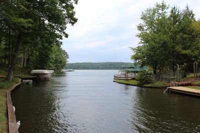 View of channel and dock
