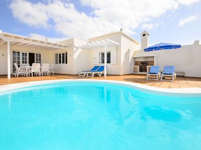 Photo for Modern Villa close to Beach with Heated Pool, Terrace, Playground, Wi-Fi and Air Conditioning