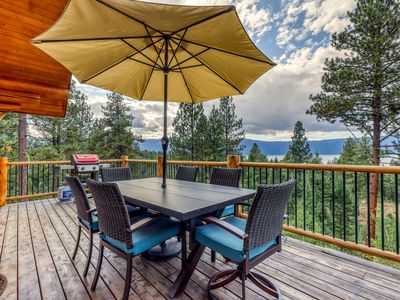 Photo for Secluded, lakeview cabin w/ deck, firepit, & pool table
