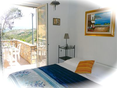 Photo for Castellabate - Apt Amarena – 2 bedrooms – sleeps 4 – sea views – wi-fi - parking