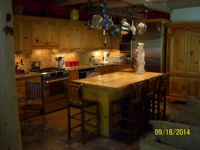 Kitchen area with all new appliances