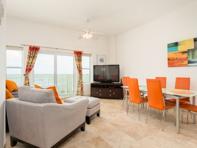 Photo for Epic 8th Floor Gulf Views! Large 3BR Seawall Condo w/ Pool