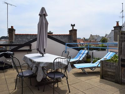 Photo for Apartment 4 pers. in Ploumanac'h, large terrace, 180m from the beach in PERROS-GUIREC