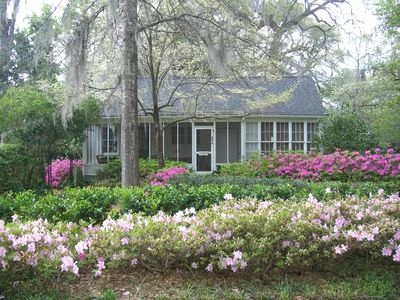 The 1920's Guest House in Spring.