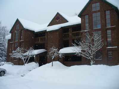 Photo for Deer Park/Loon Mtn. - Riverfront Condo 7 minutes from Loon