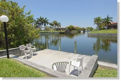 Boatsdock of the holiday home in Cape Coral