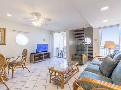 Photo for Bahia Mar 175 - Colorful 3 Bd/3 Ba Condo with Upstairs, Beach Views from Balconies, Direct Ocean Access