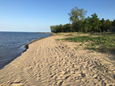 Photo for Updated Cottage with 215 Feet of Private Sandy Swimming Beach on Lake Huron