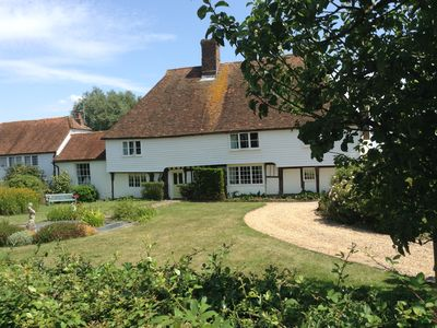 Photo for Stunning C15th Hall House, private heated pool set in large gardens, sleeps 10