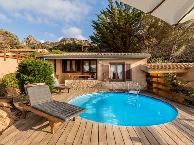 Photo for Villetta Rosa 11 with private pool and sea view