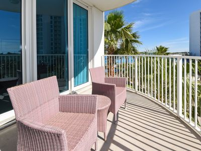 Photo for PRIVATE BALCONY overlooking community LAGOON POOL! Condo w/ NEARBY BEACHES!