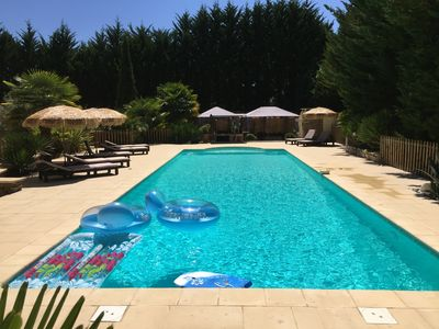 Photo for Stone house, large 16.5x5-m private pool