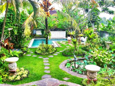 Photo for Exotic artistic house.  Sleeps 4-5.  Private swimming pool in tropical garden.