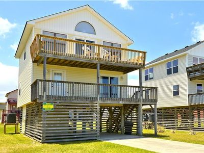 Photo for Great value just a short 1-2 minute walk from easy, direct beach access! Plenty of room for your family and friends! Very short walk to tons of dining and shopping options!