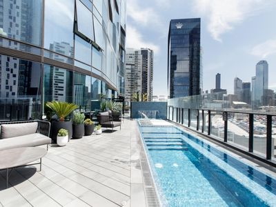 Photo for Stunning luxury apartment high above the city