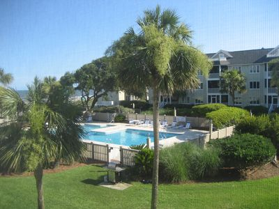 Beautiful view of the ocean and the pool!