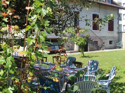 Photo for Beautiful typical Savoyard 4 * villa with large garden 4 minutes walk from the lake