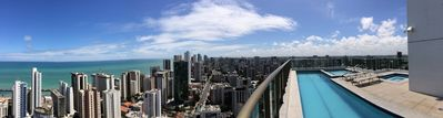 Photo for Flat exceptional Luxury Boa Viagem on the 26th floor, 150 meters from the sea and Services