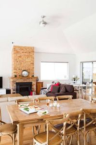 Dining/Lounge with log fire