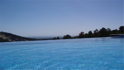 Awesome views to the coast from our amazing infinity pool