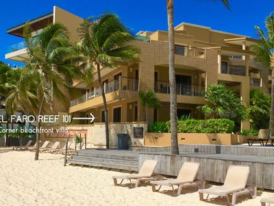 Photo for One of a kind *HUGE POOL *BEACHFRONT-*El Faro Reef 101 -Susan Mattingly