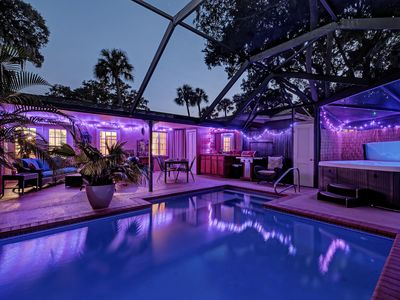 Photo for Romantic Quality Near Downtown with Private Heated Pool!
