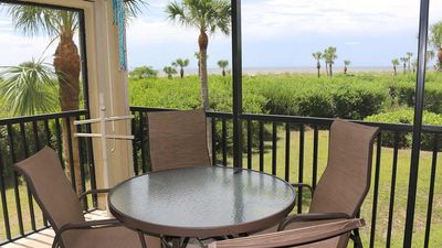 Photo for Sandpiper Beach #101 Beautiful Beachfront, walk-up condo, 2 bedroom 2 bath corner unit sleeps 6