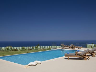 Photo for Private, not overlooked villa with pool and 270 degree panoramic sea views
