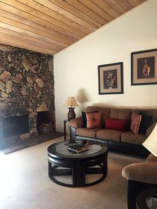 Photo for Sun Valley Elkhorn condo with fireplace close to skiing, pool and SV Lodge.