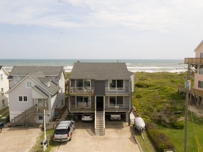 """Photo for """"Gullible"""" Oceanfront 3 bedroom/3 1/2 bath duplex Great Views!"""