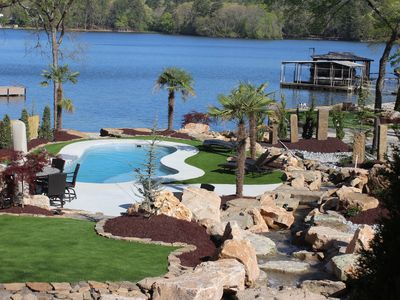 Photo for Beautiful 5 bd home on Lake Hamilton w/ putting green, private pool, and more!