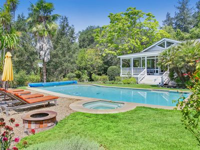 Photo for NEW LISTING! Wonderful estate with private pool & hot tub! Wine tasting nearby!