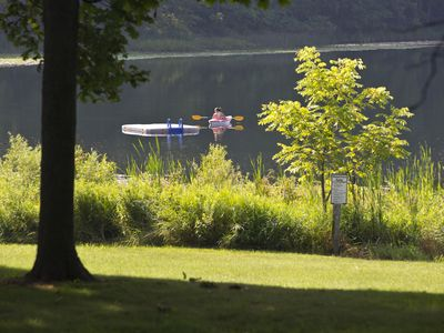 Photo for Music Hall Cottage - Lakefront Cottages on Semi-private Lake, Beach, Boats, Fun!