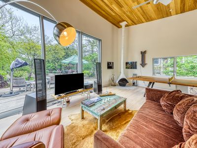Photo for NEW LISTING! Designer home one minute from beach w/bike use and full kitchen!