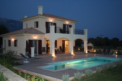 Evening at Villa Tychia, Kefalonia