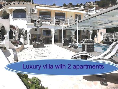 Photo for Top villa with 2 apartments and heated pool Villa Paraiso Calpe
