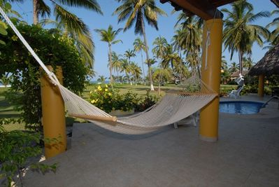 Relax in our terrace overlooking the surf