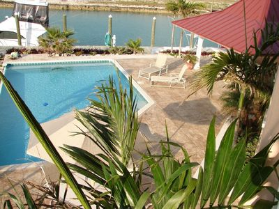 Pool Deck, 80'dock from Great Room Balcony