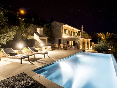 Photo for Private pool ,beach front for up to 8 people,free transport from airport Split
